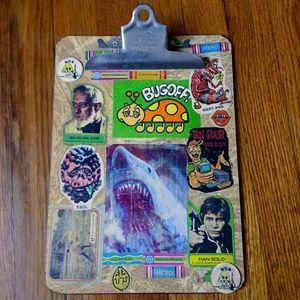 Stellar vintage clipboard with vintage stickers!!!